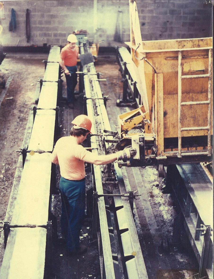 1979 – Inauguration de l'usine de poteaux-béton